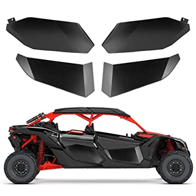 Maverick X3 Max Lower Door Inserts KEMIMOTO Aluminum Half Doors Front and Rear Door Panels for 2020 2020 2020 2020 Can Am X3 Max (4 Doors): Automotive