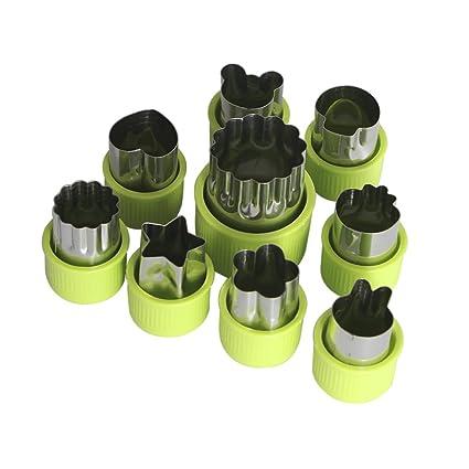 Verduras moldes formas molde Set (8 piezas) ¨CCortadores de Verduras Frutas en Forma