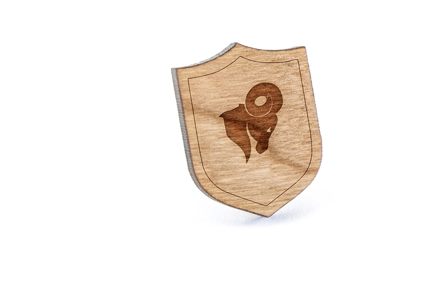 Ram Lapel Pin, Wooden Pin