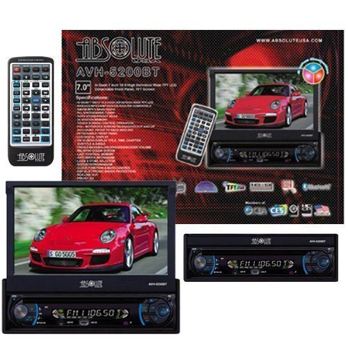 Absolute AVH-5200BT 7-Inch In-Dash Touch Screen DVD Multimedia Player with Detachable Front Panel Built in Bluetooth and Analog TV Tuner SD Card Slot/USB S600 Tv