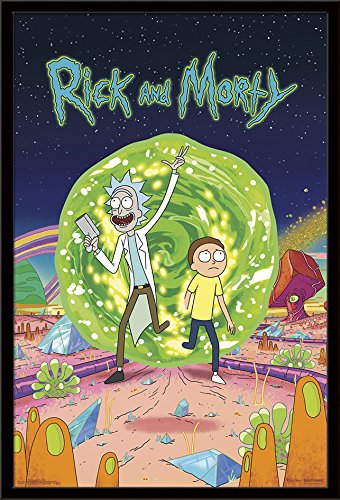 """Trends International Rick Morty-Cover Wall Poster, 24.25"""" x 35.75"""""""