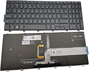 Laptop Replacement Keyboard for Dell Inspiron 15 5000 Series 5542 5543 5545 5547 5548 5552 5557 5558 5559, 15 3000 Series 3541 3542 3543 3552 3553 3558 3559 (Backlight)