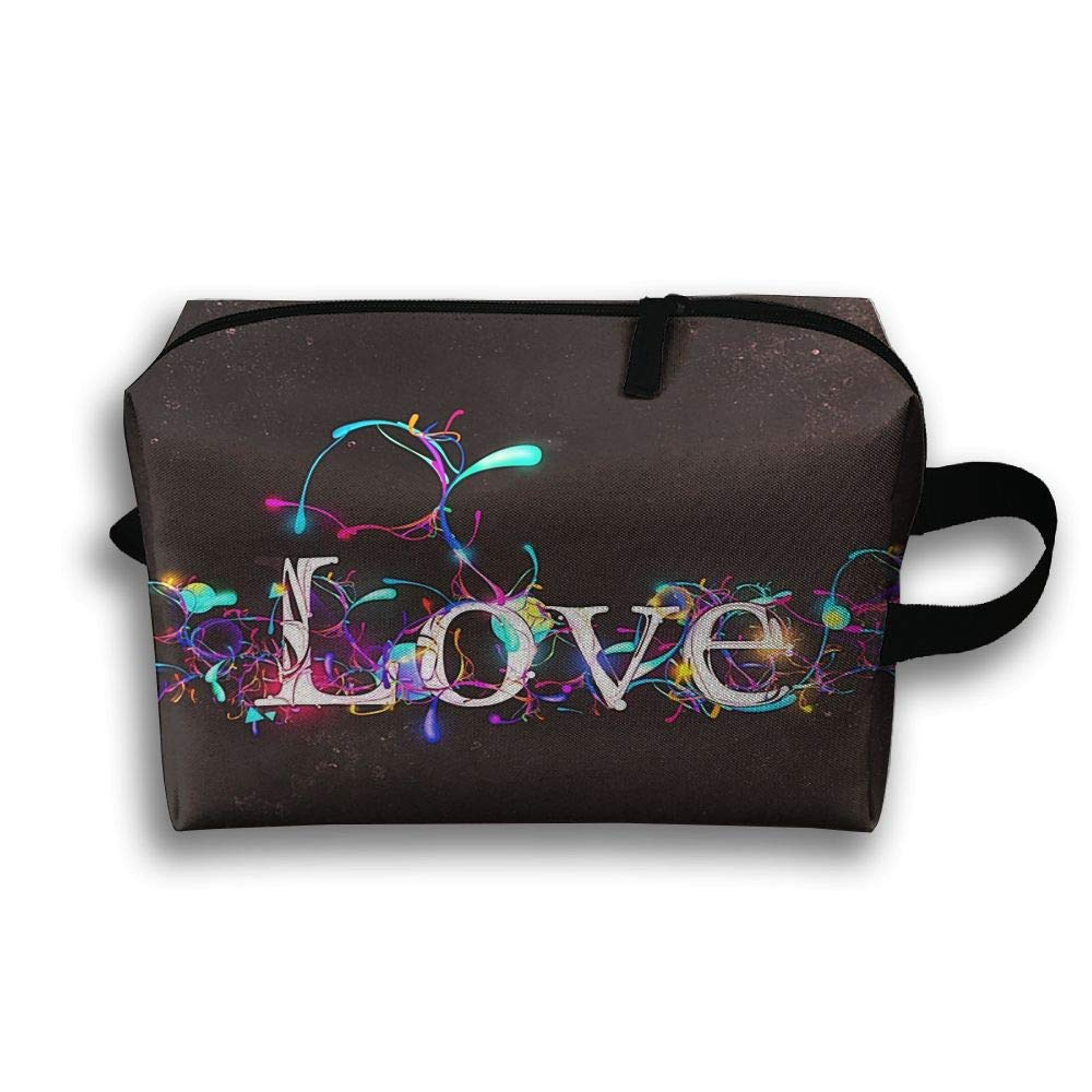 Love Letters Design Cosmetic Bags Makeup Organizer Bag Pouch Zipper Purse Handbag Clutch Bag