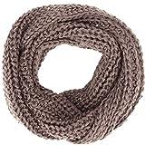 Simplicity Women' s Super Soft Winter Knit Warm Infinity Scarf, Khaki