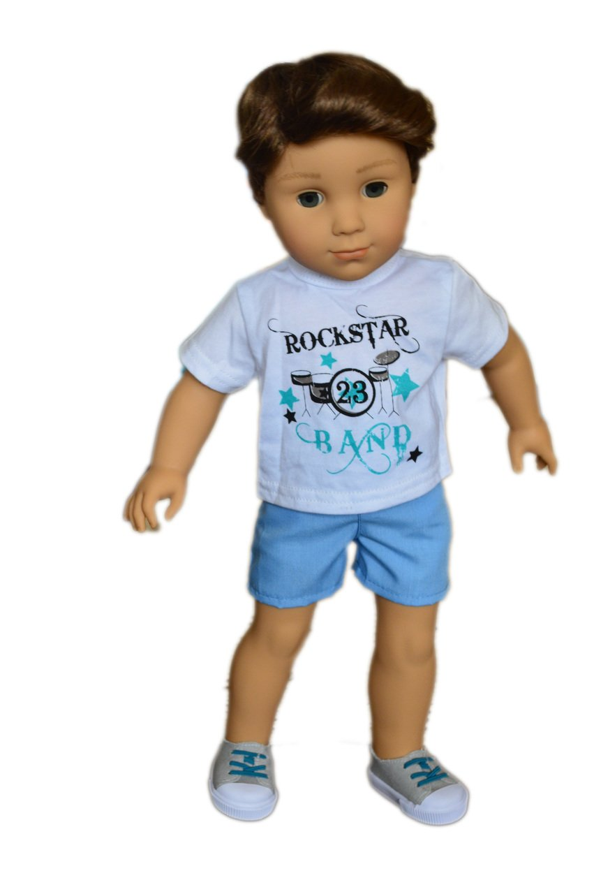 My Brittanys Rockstar Band Outfit Compatible with American Girl Boy Dolls Brittany/'s