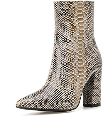 Amazon.com | Gets Ankle Snakeskin Boots