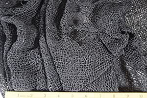 Halloween The Witching Hour Dark Gray/Black Mesh Fabric by the Yard