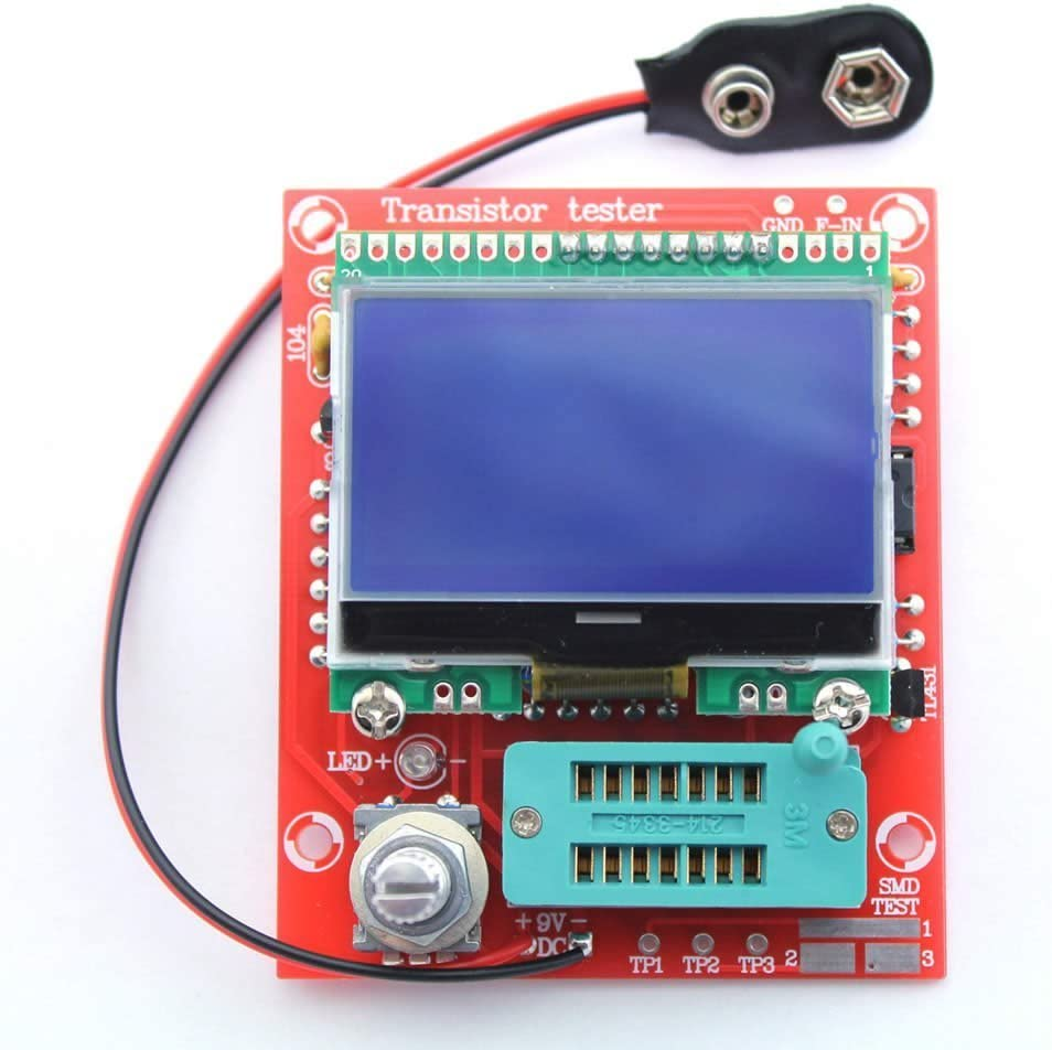 transistor tester// ESR // frequency meter // square wave genera LCD DIY EZ M328