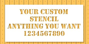 Custom Stencil 12x24 - Custom Laser Cut - Anything You Want - Strong  Polyester Mil 10 - US Made (12X24)