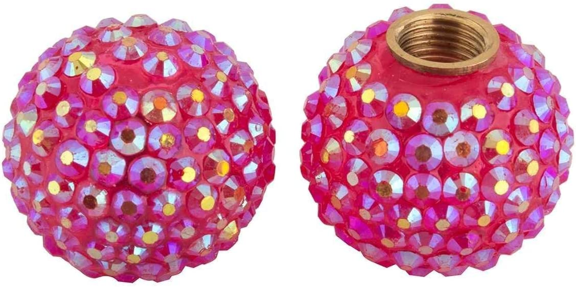 Set of 2 Pink Sparkle Cruiser Candy Bicycle Valve Caps