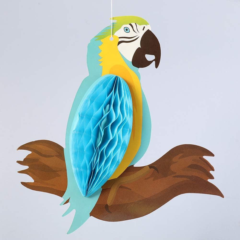 Umoorismo 9 Pezzi Uccelli Tropicali a nido dape Pappagallo Sagome Hawaiian Summer Beach Luau Party Decorazioni da appendere