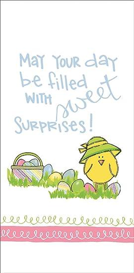 Puede ser tu día con dulces sorpresas de sacos de harina de Pascua toalla de plato de la cocina: Amazon.es: Hogar