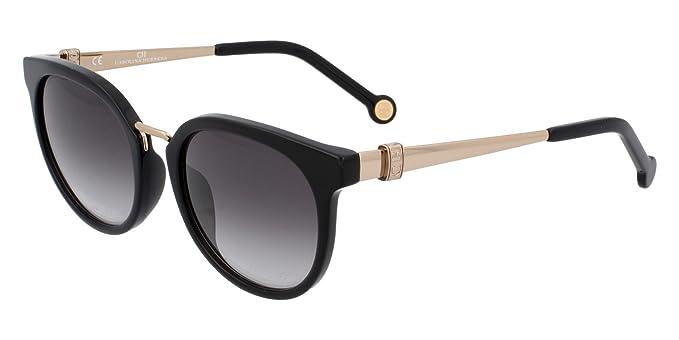 6af8ab6903 Carolina Herrera SHE 754 0700 51-21-140 lunettes de soleil pour femmes noir