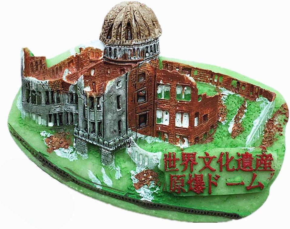 Atomic Bomb Dome Hiroshima Japan 3D Fridge Magnet Souvenir Gift,Home & Kitchen Decoration Magnetic Sticker Hiroshima Japan Refrigerator Magnet Collection