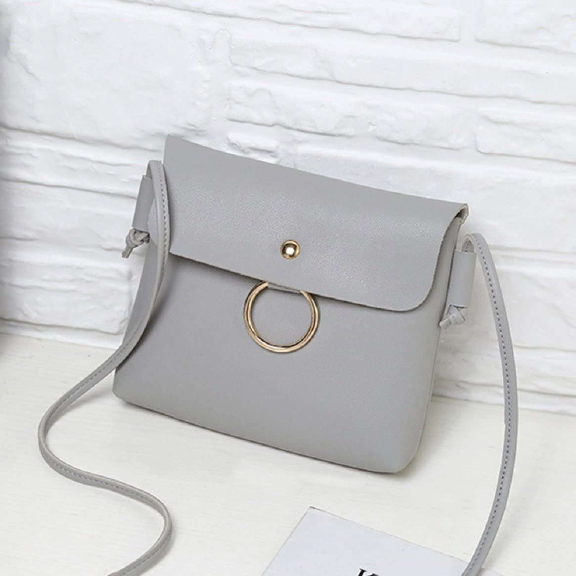Women Hasp Shoulder Bag PU Leather by Coerni