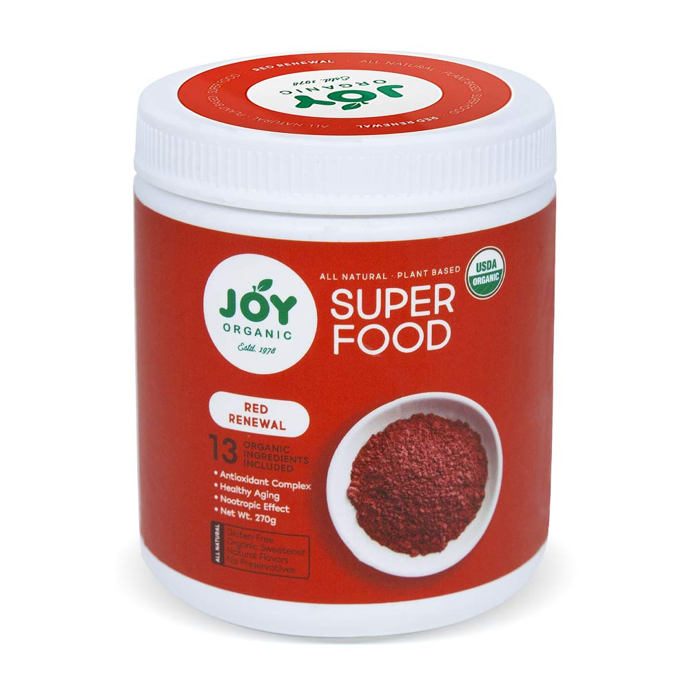 Joy Organic Red Renewal Superfood - Vital Reds Whole Food Supplement with Beet, Cranberry, Strawberry - Boosts Metabolism, Combats Effects of Aging and Enhances Memory - Vegan - 30 Servings by 4EXCELSIOR