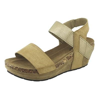 b4e554610f45 Pierre Dumas Chantal-2 Women s Strappy Wedge Platform Sandals (5.5 B(M)