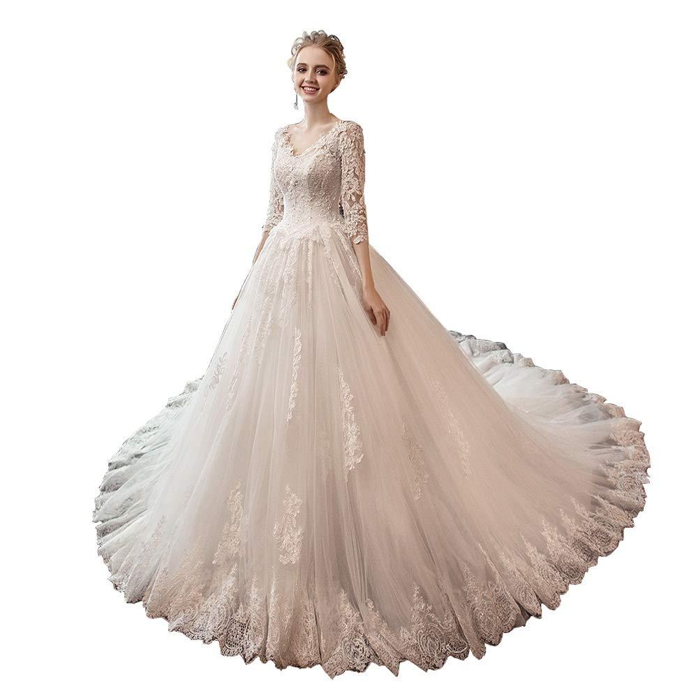 FXSHOP ウェディングドレスワンショルダーVネックは細い大サイズの床の長さのウェディングドレスでした (色 : 白, サイズ さいず : XXL) XX-Large 白 B07NPP4W8D