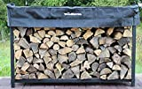 Woodhaven 6ft Firewood Rack (Black)
