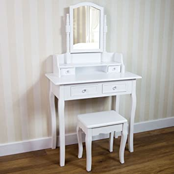 Home Discount Nishano Dressing Table With Stool 4 Drawer Adjustable