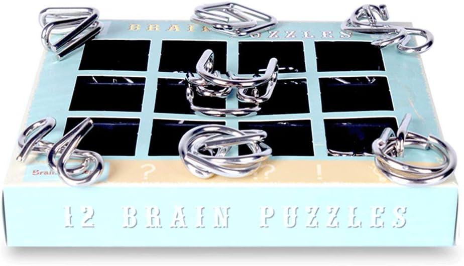 Calendario del Conto alla Rovescia di Natale IQ Test Mind Game Toys Set di 12 Pezzi Puzzle con Filo Metallico Regalo per Bambini Set di Rompicapo MOTOULAX Calendario Dellavvento di Natale