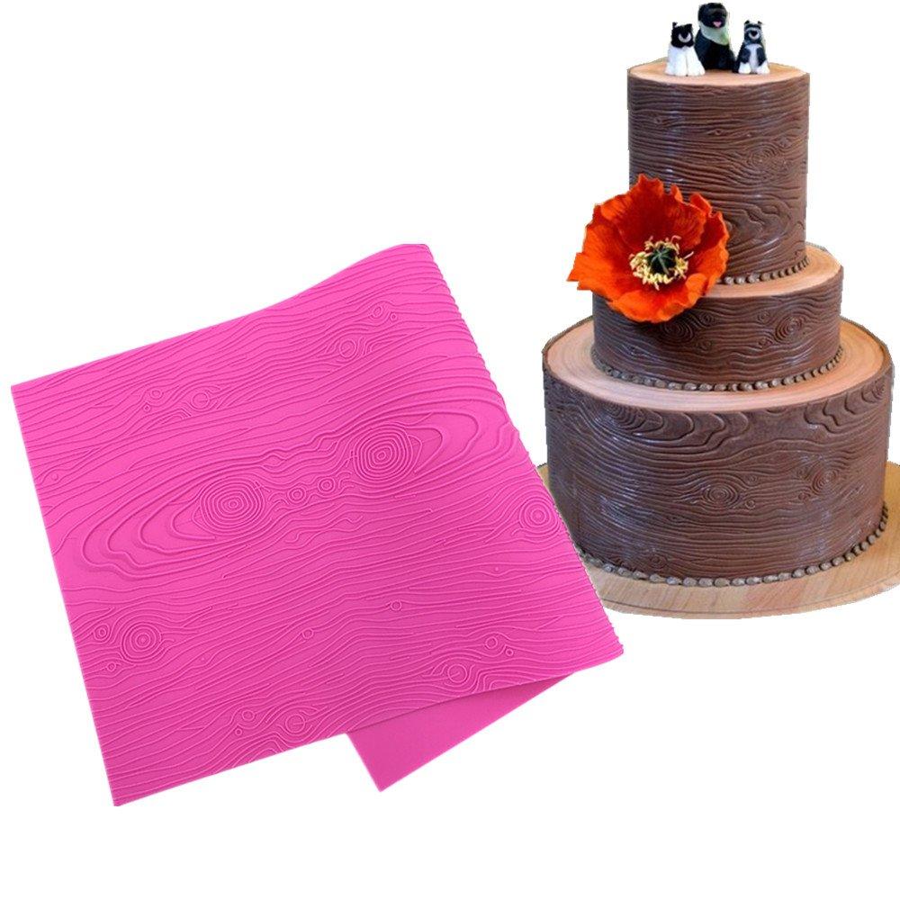 Fondant Lace Mold Impression Mats Gumpaste Mold Woodgrain Silicone Lace Molds for Cake Decorating