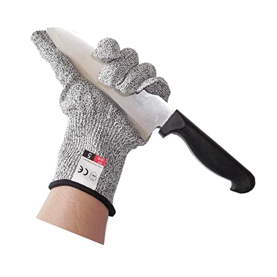 Fish Fillet XL sunrisegifts Wood Carving Mandolin Slicing EN388 Certified Level 5 Protection 1 pair Safety Cut Resistant Gloves for Kitchen and Garden