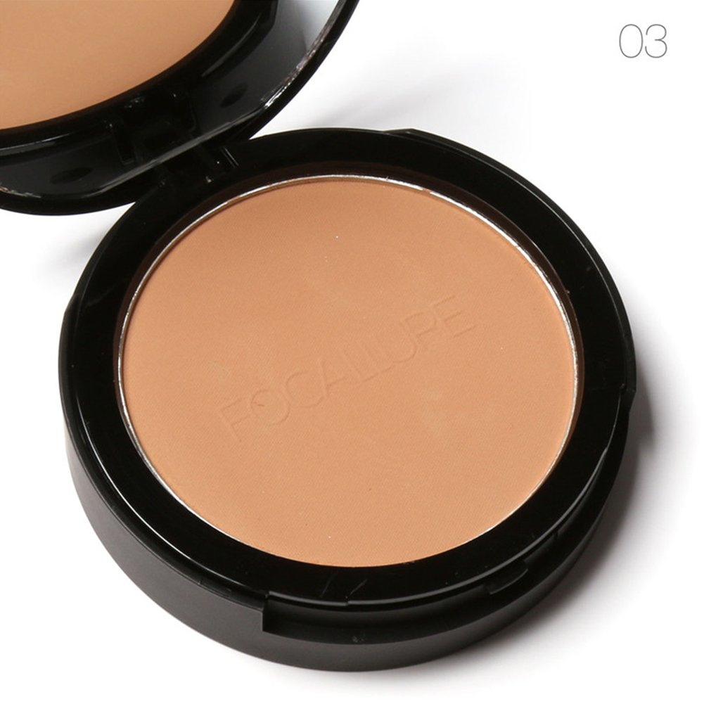 Pressed Powder Wet Dry Foundation Oil Control Waterproof Whitening Face Bronzer Makeup Cosmetic Accessory Tool 3 Colors (1#) Zerone