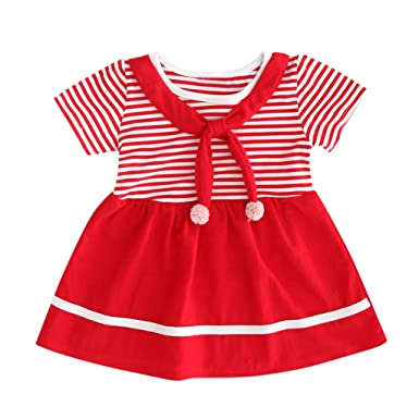 Vestido corto de tutú para niñas y bebés, de manga corta, con lazo ...