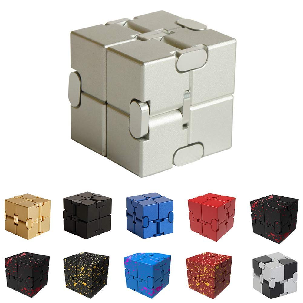 Infinity Fidget Cube for Kids and Adults, Stress and Anxiety Relief Cool Hand Mini Kill Time Toys Infinite Cube