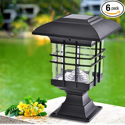 Charmant Solar Fence Lights Pillar Lamps Garden Landscape Lights LED Outdoor  Waterproof Park Decorative Lights For Outdoor