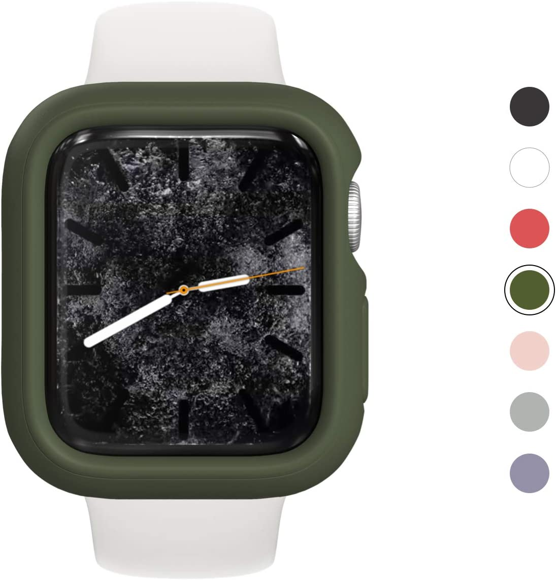 RhinoShield Bumper Case Compatible with Apple Watch Series 3/2 / 1 - [38mm]   Slim Protective Cover, Lightweight and Shock Absorbent - Camo Green