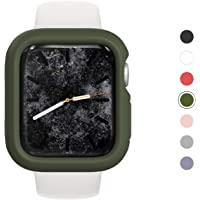 RhinoShield Bumper Case for Apple Watch Series 5/4 [ 44mm ] Slim Protective Cover, Lightweight and Shock Absorbent - Camo Green