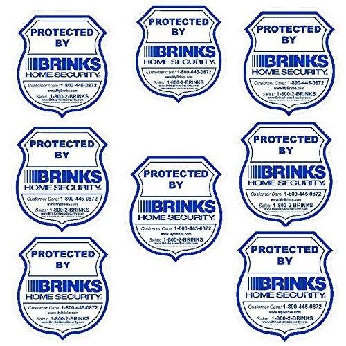 8 brinks home security alarm warning stickers 35 x 375 waterproof indooroutdoor