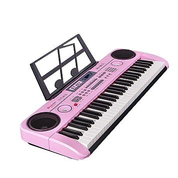 DUWEN Teclado para niños Teclado de 61 teclas multifuncional para principiantes con micrófono (Color : Pink): Amazon.es: Instrumentos musicales