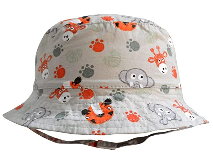 6ccf23aff9e COMVIP Baby Kids Cartoon Reversible Sun Protection Fisherman Bucket Hat  Grey 44