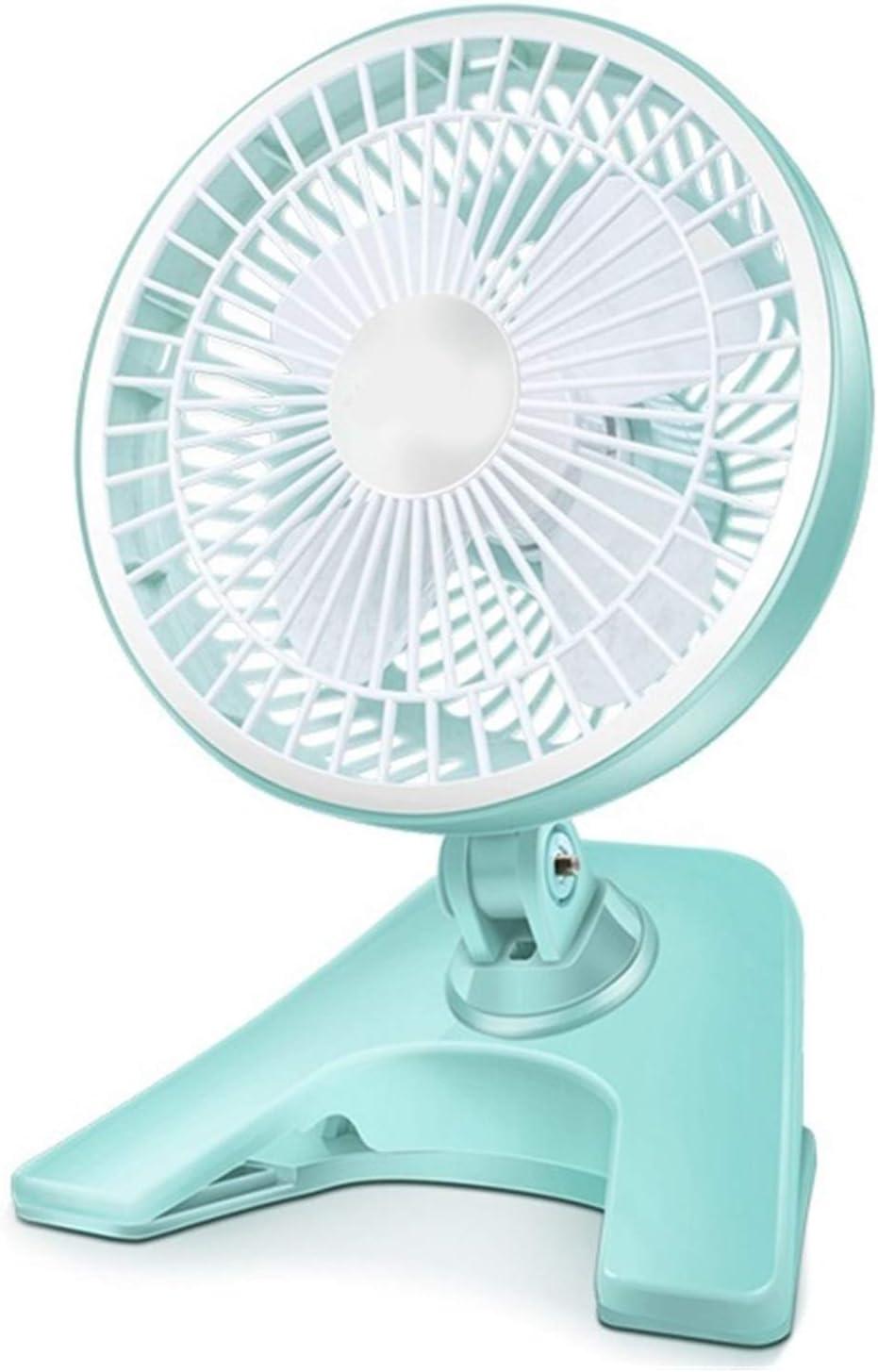 Color : 01 Air Cooling Fan USB Small Electric Fan Desktop Mini Mute Dormitory Table Fan Office Clip Fan Blue