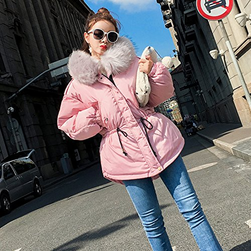 Collar Jacket Coat Pink Short Feather Coat Winter Collar Cute Paragraph Cotton Female Cotton Xuanku Cotton Coats FwRqaBx6