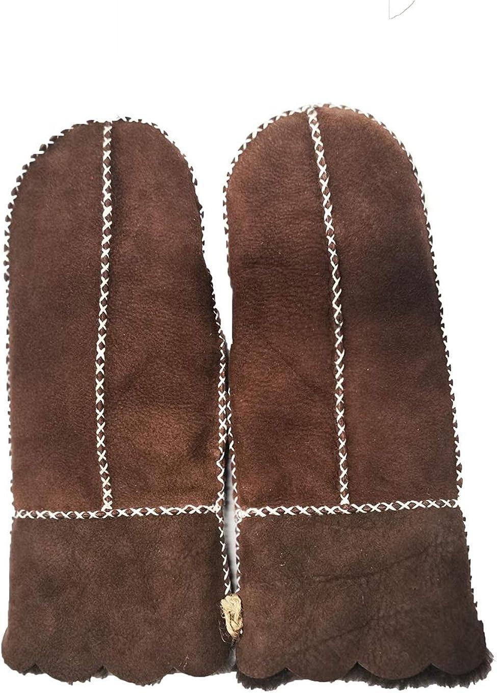 YISEVEN Damen Merino Robust Lammfell Handschuhe F/äustlinge mite Gef/üttert Geschenk Fischgr/ät