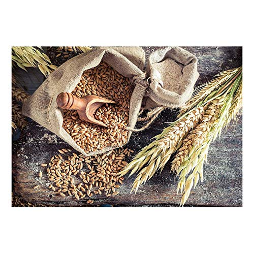 wall26 - Healthy Ingredients for Rolls and Bread with Whole Grains - Removable Wall Mural | Self-Adhesive Large Wallpaper - 66x96 inches