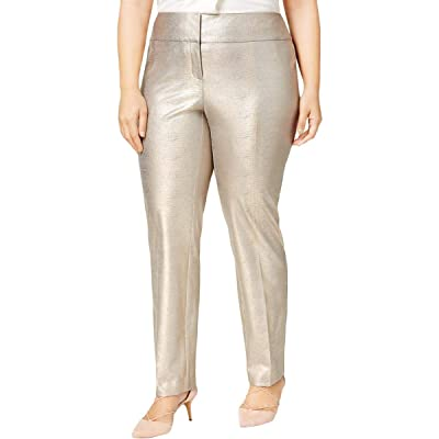 Alfani Plus Size Slim Metallic Pants Matte at Amazon Women's Clothing store