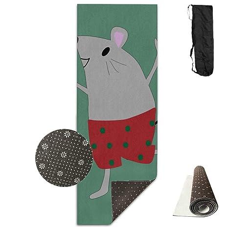 Amazon.com : Lajro Yoga Mat Wide Mouse Rat Smart Cunning ...