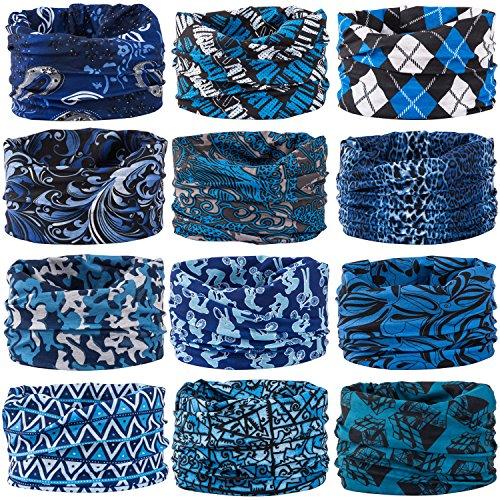 Its Winter Hard Hat Liner (Wide Headbands Headwear Head Wrap Sport Sweatband for Men and Women,Workout,Yoga,12-in-1 12PCS/9PCS/6PCS Multifunction Magic Scarf)