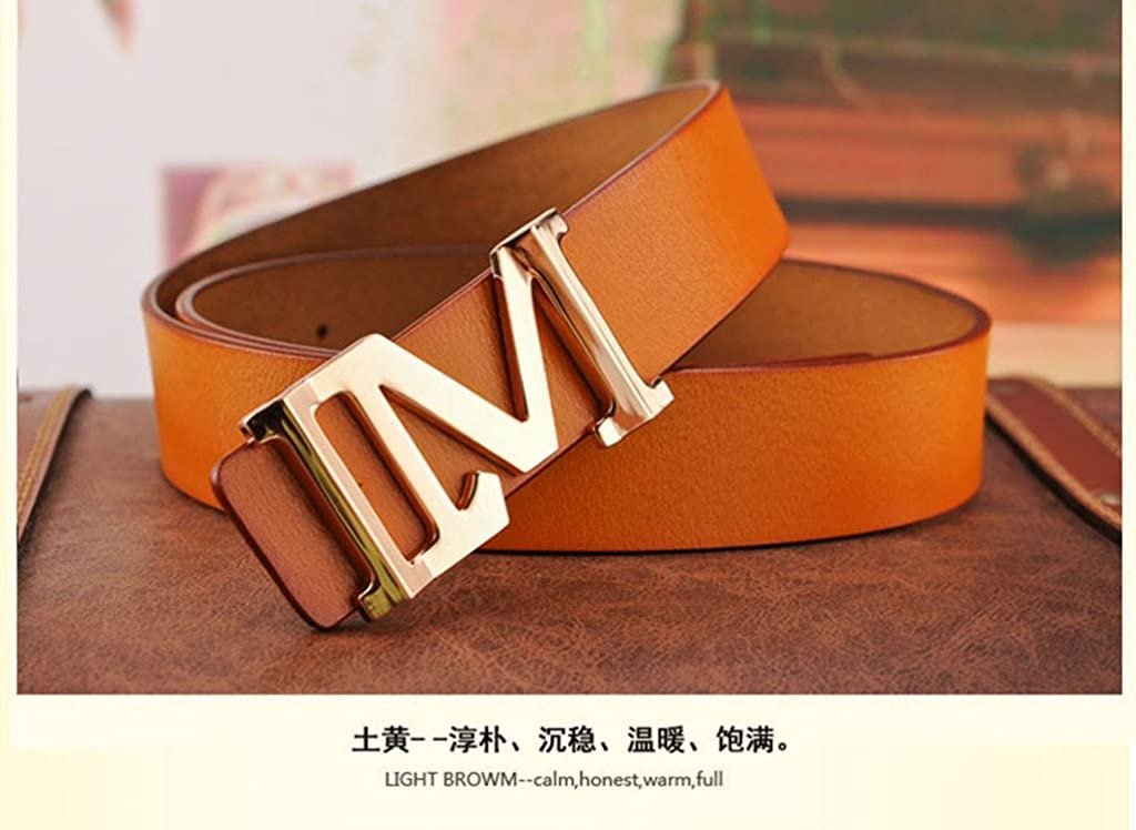 Evaliana Mens PU Leather Belt Adjustable Waistband Casual
