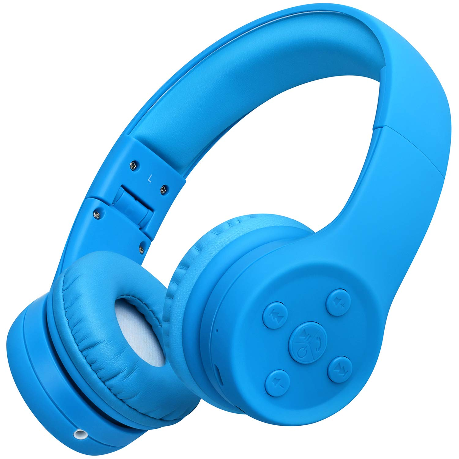 Picun Kids Bluetooth Headphones Safe Volume Limited 85dB 15 Hours Play Time Foldable Stereo Sound Headsets with Mic Wireless Headphones for Boys Children Computer Cell Phones Tablet School Game(Blue) by Picun