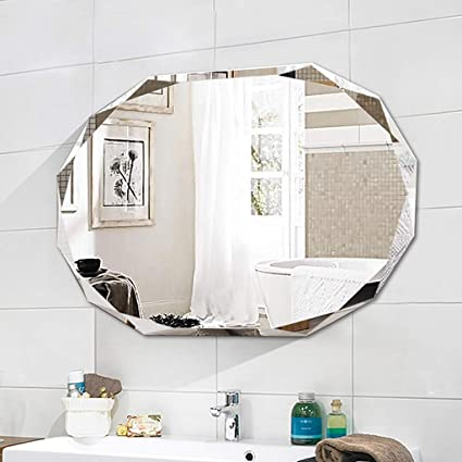 Awesome Mirror Ldj Round Frameless Vanity Mirror Home Simple Carved Wall Hanging Bathroom Mirror Hotel Wash Table Mirror Yt Size 70 90Cm Download Free Architecture Designs Ferenbritishbridgeorg