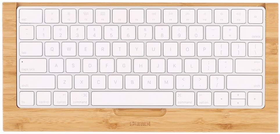 SAMDI Wood Keyboard Tray, The Second Generation Drawer for iMac Bluetooth Bracket Dock Keyboard Mount Platform Rack for Small Slot for Storage Magic Keyboard - (Bamboo)