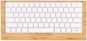SAMDI Wood Keyboard Tray, The Second Generation Drawer for iMac Bluetooth Bracket Dock Keyboard Mount Platform Rack for Small Slot for Storage Magic Keyboard - (Bamboo)