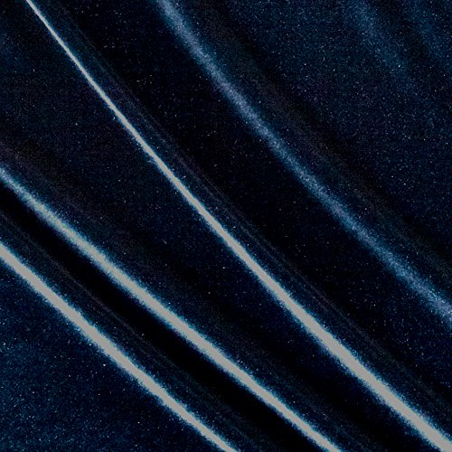 - Ben Textiles Stretch Velvet Navy Fabric by The Yard, Deepest Blue