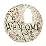 Roman Country Cottage Cut-Out Welcome Decorative Patio Garden Stone, 12-Inch Review